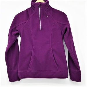 Nike Women's Half-Zip Pullover Fleece Sweatshirt